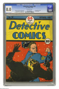 Detective Comics #20 (DC, 1938) CGC VF 8.0 Off-white pages. Leo O'Mealia and Creig Flessel arguably gave DC the two most...