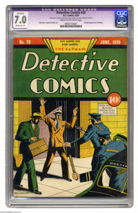 Detective Comics #28 (DC, 1939) CGC Apparent FN/VF 7.0 Moderate (P) Cream to off-white pages. Overstreet lists this titl...