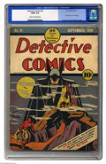 Golden Age (1938-1955):Superhero, Detective Comics #31 (DC, 1939) CGC GD/VG 3.0 Cream to off-white pages. One of the most famous comic book covers of all, thi...