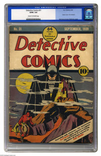 Detective Comics #31 (DC, 1939) CGC GD/VG 3.0 Cream to off-white pages. One of the most famous comic book covers of all...