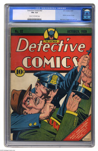 Detective Comics #32 (DC, 1939) CGC FN+ 6.5 Cream to off-white pages. The early Golden Age Batman was a bit different fr...