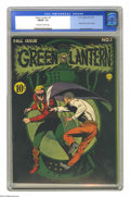 Golden Age (1938-1955):Superhero, Green Lantern #1 (DC, 1941) CGC FN/VF 7.0 Off-white to white pages. The premiere issue of Green Lantern's solo title is rank...