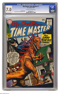 Rip Hunter Time Master #1 (DC, 1961) CGC FN/VF 7.0 Off-white to white pages. Ross Andru and Mike Esposito cover and art...