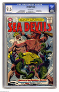 Silver Age (1956-1969):Superhero, Sea Devils #14 (DC, 1963) CGC NM+ 9.6 Off-white pages. Those Showcase alums the Sea Devils benefited from a spectacular ...
