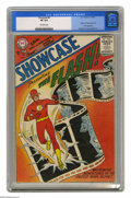Silver Age (1956-1969):Superhero, Showcase #4 The Flash (DC, 1956) CGC VF 8.0 Off-white pages. Thisis simply one of the most significant comic books ever. In...