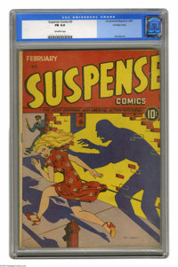 Suspense Comics #2 Crowley pedigree (Continental Magazines, 1944) CGC FN 6.0 Off-white pages. Artist Nina Albright is re...