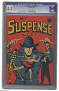Golden Age (1938-1955):Miscellaneous, Suspense Comics #7 (Continental Magazines, 1944) CGC FN- 5.5 Off-white to white pages. The whole Suspense series continu...