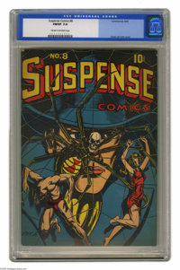 Suspense Comics #8 (Continental Magazines, 1945) CGC FN/VF 7.0 Cream to off-white pages. Heads up, L. B. Cole fans... he...