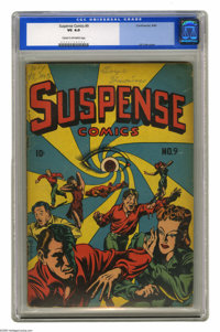 Suspense Comics #9 (Continental Magazines, 1945) CGC VG 4.0 Cream to off-white pages. L. B. Cole cover. Overstreet 2004...