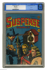 Suspense Comics #12 (Continental Magazines, 1946) CGC FN+ 6.5 Cream pages. This is the first time we've ever offered a c...
