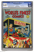 Golden Age (1938-1955):Superhero, World's Finest Comics #8 (DC, 1942) CGC FN 6.0 White pages. The Boy Commandos by Joe Simon begins in this issue, which also ...