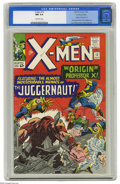"Silver Age (1956-1969):Superhero, X-Men #12 Bowling Green pedigree (Marvel, 1965) CGC NM 9.4 Off-white pages. Billed as ""The Origin of Professor X,"" this issu..."