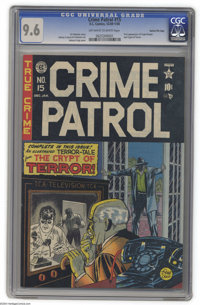 Crime Patrol #15 Gaines File pedigree (EC, 1950) CGC NM+ 9.6 Off-white to white pages. A very significant book in EC his...