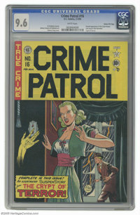 Crime Patrol #16 Gaines File pedigree 3/11 (EC, 1950) CGC NM+ 9.6 White pages. This was the last issue of this series be...