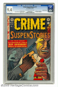 Crime SuspenStories #17 Gaines File pedigree 7/11 (EC, 1953) CGC NM 9.4 Off-white to white pages. We don't have the Comi...