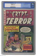 Golden Age (1938-1955):Superhero, Crypt of Terror #18 Gaines File pedigree 1/10 (EC, 1950) CGC NM/MT 9.8 Off-white to white pages. Cover artist Johnny Craig w...