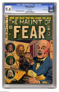 "Golden Age (1938-1955):Horror, Haunt of Fear #8 Gaines File pedigree (EC, 1951) CGC NM 9.4 Whitepages. Al Feldstein's shrunken head cover is called ""class..."