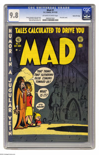 Mad #1 Gaines File pedigree 4/12 (EC, 1952) CGC NM/MT 9.8 Off-white to white pages. Few titles have managed to last as l...