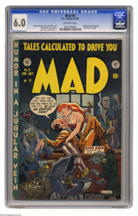Mad #5 (EC, 1953) CGC FN 6.0 Off-white pages. This comic got EC in hot water! And it wasn't the regular humor features t...
