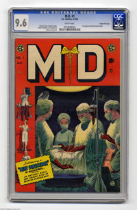 M.D. #1 Gaines File pedigree 9/12 (EC, 1955) CGC NM+ 9.6 White pages. If you're experiencing migraines or an upset stoma...