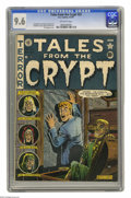 Golden Age (1938-1955):Horror, Tales From the Crypt #23 (EC, 1951) CGC NM+ 9.6 Off-white pages. AlFeldstein's covers invariably stood out on newsstands, a...