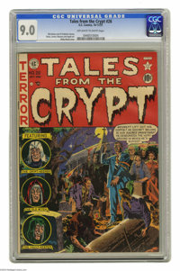 Tales From the Crypt #26 (EC, 1951) CGC VF/NM 9.0 Off-white to white pages. This issue's Wally Wood cover was only the s...