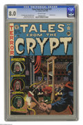 Golden Age (1938-1955):Horror, Tales From the Crypt #27 (EC, 1951) CGC VF 8.0 Off-white pages. Guillotine cover by Wally Wood. Wood, Graham Ingels, Jack Da...