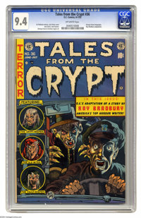 Tales From the Crypt #36 (EC, 1953) CGC NM 9.4 Off-white pages. Jack Davis' cover headlines another issue of EC's pre-em...
