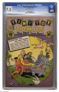 Tiny Tot Comics #1 (EC, 1946) CGC VF- 7.5 Cream to off-white pages. Burton Geller cover and art. Only one copy of this i...