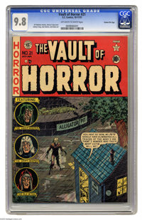 Vault of Horror #21 Gaines File pedigree 2/12 (EC, 1951) CGC NM/MT 9.8 Off-white to white pages. The good news is, despi...
