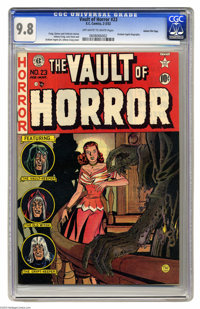 Vault of Horror #23 Gaines File Copy 2/12 (EC, 1952) CGC NM/MT 9.8 Off-white to white pages. Jack Davis did double duty...