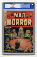 Golden Age (1938-1955):Horror, Vault of Horror #25 (EC, 1952) CGC NM- 9.2 Off-white pages. JohnnyCraig's cover leads into a story (also drawn by Craig) ab...
