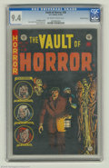 Golden Age (1938-1955):Horror, Vault of Horror #38 Gaines File pedigree 7/12 (EC, 1954) CGC NM 9.4Off-white to white pages. Johnny Craig's cover leads int...