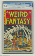 Golden Age (1938-1955):Science Fiction, Weird Fantasy #22 Gaines File pedigree 6/11 (EC, 1953) CGC NM 9.4White pages. Astronauts make a discovery in the endless re...