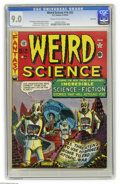 Golden Age (1938-1955):Science Fiction, Weird Science #14 (#3) River City pedigree (EC, 1950) CGC VF/NM 9.0Cream to off-white pages. Post-apocalyptic scenarios wer...