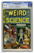 Golden Age (1938-1955):Horror, Weird Science #15 (#4) River City pedigree (EC, 1950) CGC VF/NM 9.0Cream to off-white pages. Al Feldstein did a memorable t...