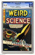 Golden Age (1938-1955):Science Fiction, Weird Science #5 Gaines File pedigree 6/10 (EC, 1951) CGC NM/MT 9.8Off-white to white pages. Al Feldstein's atomic explosio...