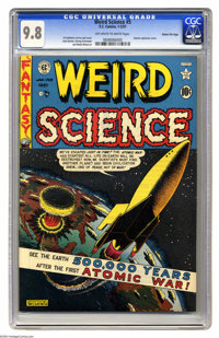 Weird Science #5 Gaines File pedigree 6/10 (EC, 1951) CGC NM/MT 9.8 Off-white to white pages. Al Feldstein's atomic expl...