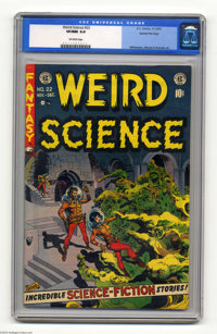 Weird Science #22 Gaines File pedigree 9/11 (EC, 1953) CGC VF/NM 9.0 Off-white pages. This issue began with the sad anno...