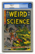 "Golden Age (1938-1955):Horror, Weird Science #22 (EC, 1953) CGC VF/NM 9.0 Off-white pages. Thisfinal issue of the title featured the wistful tale ""My Worl..."