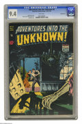 Golden Age (1938-1955):Horror, Adventures Into the Unknown #8 Diamond Run pedigree (ACG, 1949) CGCNM 9.4 White pages. These ACG horror books don't turn up...