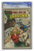 Golden Age (1938-1955):Horror, Adventures Into the Unknown #14 White Mountain pedigree (ACG, 1950)CGC NM- 9.2 Off-white pages. Have a look at this cover w...