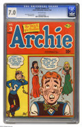 """Golden Age (1938-1955):Humor, Archie #3 (Archie, 1943) CGC FN/VF 7.0 Off-white pages. Both Overstreet and Gerber call this issue """"scarce."""" And as early in..."""