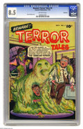 Golden Age (1938-1955):Horror, Beware Terror Tales #4 Bethlehem pedigree (Fawcett, 1952) CGC VF+8.5 Off-white pages. Bernard Baily cover. Only two copies ...