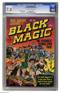 Black Magic #2 (Prize, 1950) CGC FN/VF 7.0 Off-white to white pages. Jack Kirby cover. Mort Meskin and Simon and Kirby a...