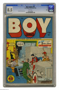 Golden Age (1938-1955):Crime, Boy Comics #28 Ohio pedigree (Lev Gleason, 1946) CGC VF+ 8.5 White pages. Awfully nice-looking copy of an issue that doesn't...