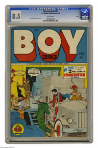 Boy Comics #28 Ohio pedigree (Lev Gleason, 1946) CGC VF+ 8.5 White pages. Awfully nice-looking copy of an issue that doe...