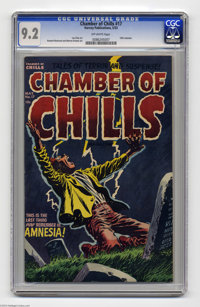 Chamber of Chills #17 (Harvey, 1953) CGC NM- 9.2 Off-white pages. Lee Elias cover. Howard Nostrand and Warren Kremer art...