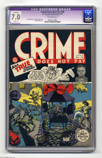 Crime Does Not Pay #28 (Lev Gleason, 1943) CGC Apparent FN/VF 7.0 Slight (P) Off-white pages. Charles Biro cover. Norman...