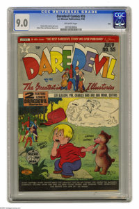 Daredevil Comics #55 Ohio pedigree (Lev Gleason, 1949) CGC VF/NM 9.0 Off-white pages. The colorful cover is by Charles B...